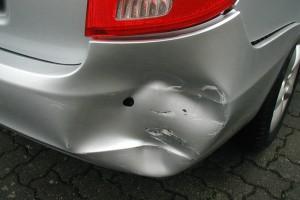 Heckschaden Mercedes