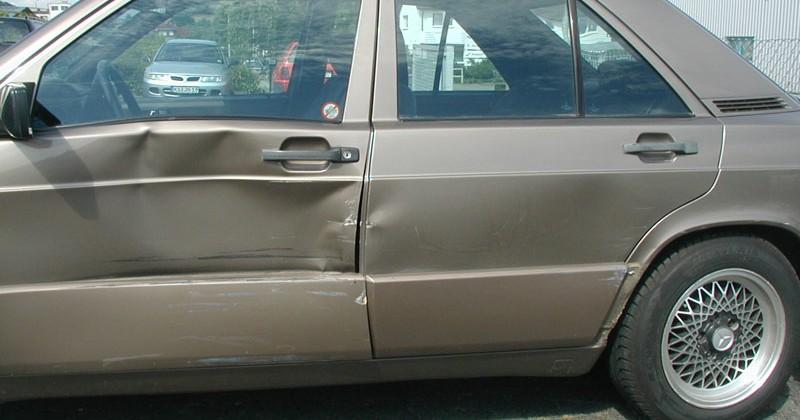 Seitenschaden Mercedes